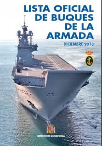 Lista Oficial de Buques de la Armada Española, edición de 2013