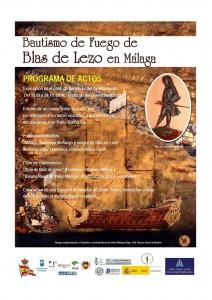 Bautismo de fuego de Blas de Lezo en Málaga