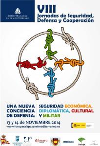 Cartel VIII Jornadas de Seguridad, Defensa y Cooperación