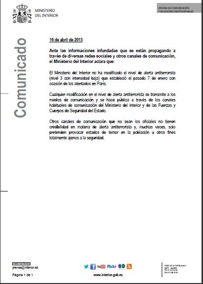 comunicado del ministerio del interior foro para la paz