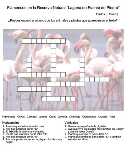 PRACTICA ESPAÑOL - Flamencos-crucigrama - Universidad de Málaga