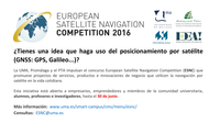 Concurso European Satellite Navigation Competition (ESNC): solicitudes hasta el 30 de junio
