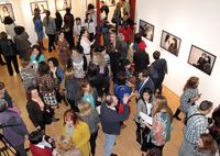 "Crowded exhibition opening for ""Nosotras"" (""Us"") at UMA"