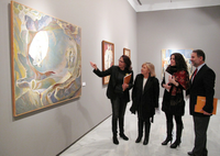 Artwork exhibition of Antonio Pitxot, a close collaborator of Dalí, displayed at the Rectorate