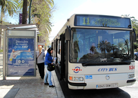 Bus route 11 connects El Palo with Teatinos Campus