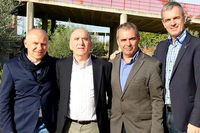 El presidente de la 'European University Sports Association' visita el Complejo Deportivo Universitario