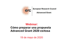 Taller on-line preparación propuestas convocatoria Advanced Grant 2020