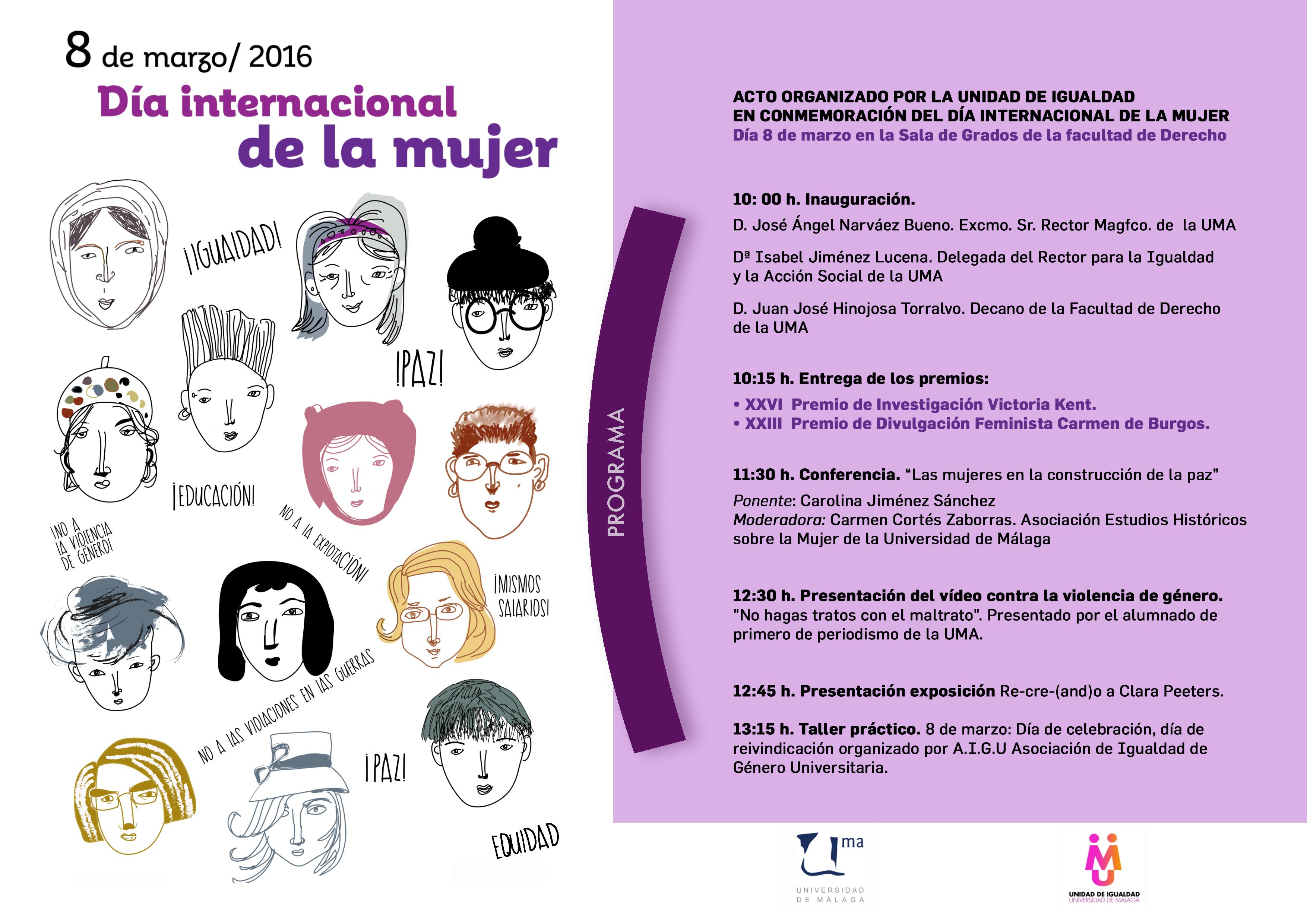 Día Internacional de la Mujer 2016 (Universidad de Málaga)
