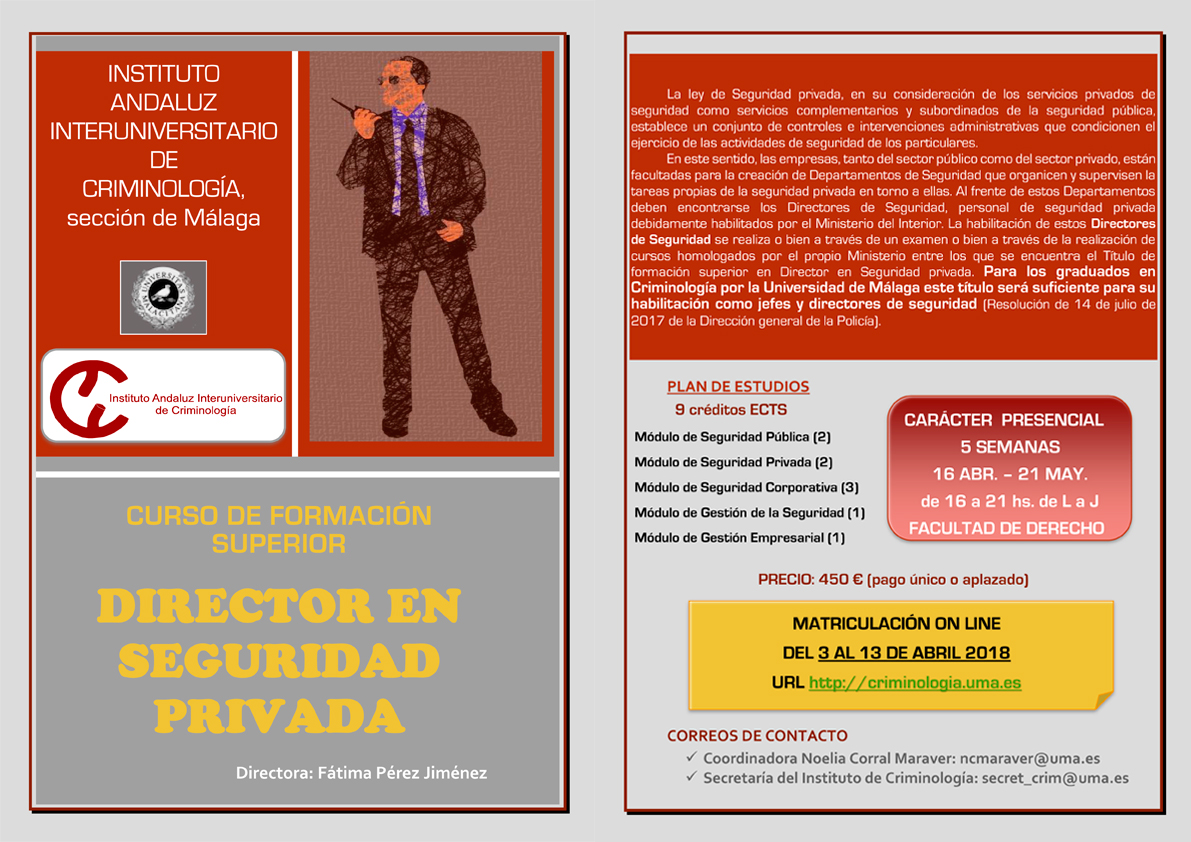 cartel director seguridad privada