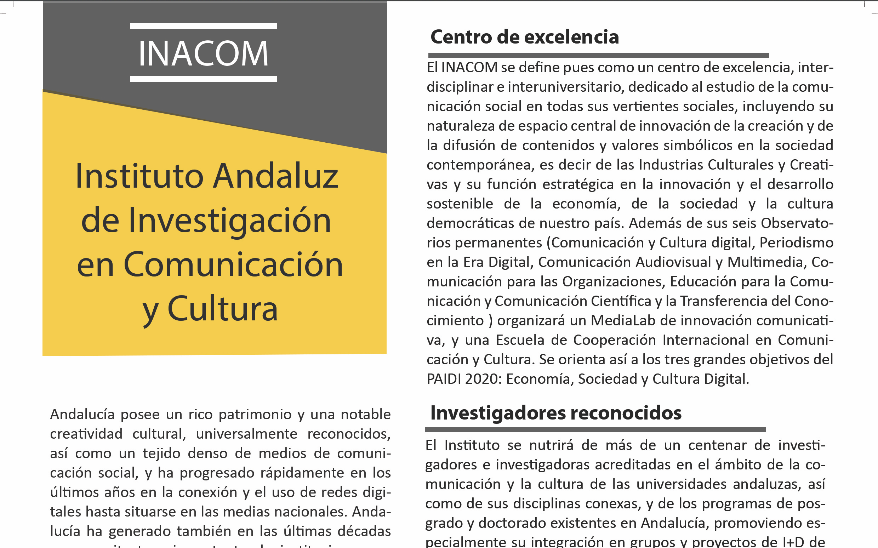 folleto recortado inacom