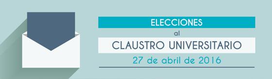 Elecciones al Claustro 2016