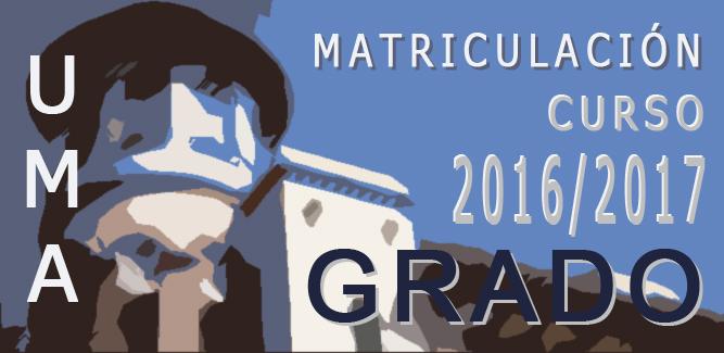 Acceso a la Guía de Matriculación 2016-17 Universidad de Málaga